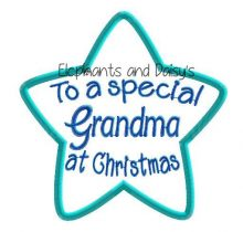 Grandma Christmas Star Design file