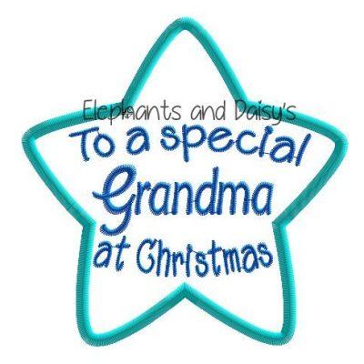 Grandma Christmas Star Design file