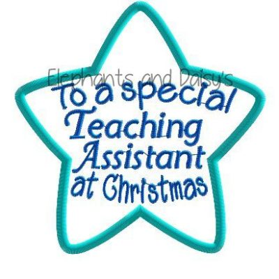 Teaching Assistant Christmas Star Design file