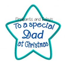 Dad Christmas Star Design file