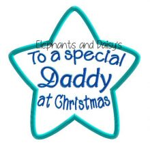 Daddy Christmas Star Design file