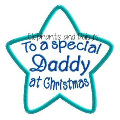 Daddy Christmas Star Design file