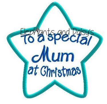 Mum Christmas Star Design file