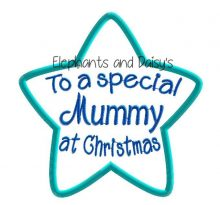 Mummy Christmas Star Design file