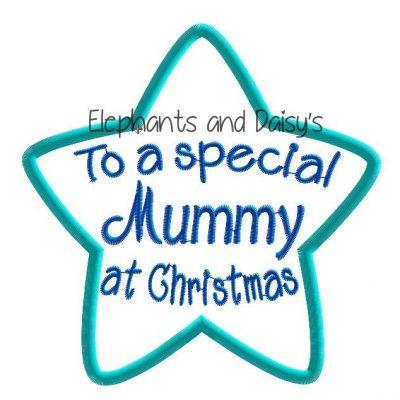 Mummy Christmas Star Design file