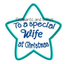 Wife Christmas Star Design file