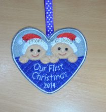 Twins First Christmas Design file