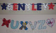 Flossy Alphabet Banner Design File