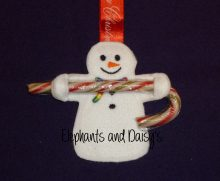Snowman Candy Cane Holder design file