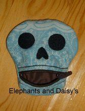 Skull ITH Purse Design file