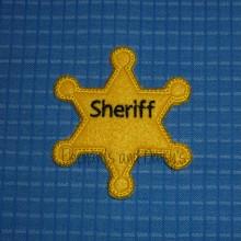 Sheriff Badge ITH Design file