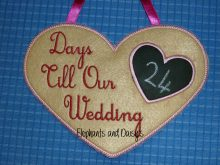 Wedding Countdown Heart Design file