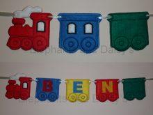 Train Banner 5 inch Design file