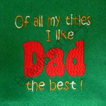 Titles Dad design file