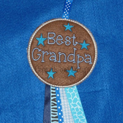 Best Grandpa Rosette Embroidery Design files
