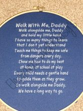 Walk With Me Daddy Poem design file