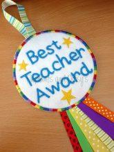 Best Teacher Award Rosette design file