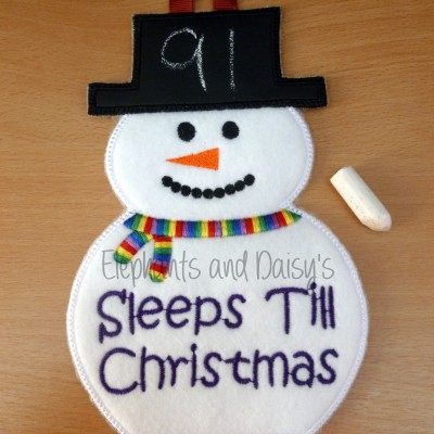 Snowman Christmas Countdown Design file