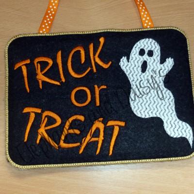 Trick Or Treat Sign Design file