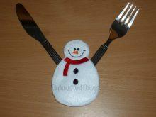 Snowman Cutlery Holder Design file