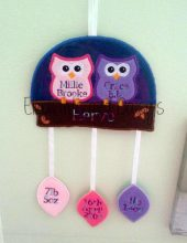 Two Owls Birth Hanger Design file