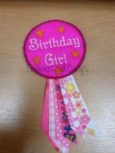 Birthday Girl Rosette Design file