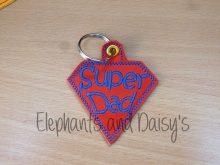 Super Dad Keyring Design file