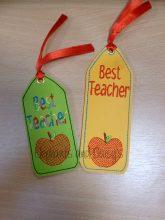 Best Teacher Bookmark design file