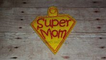 Super Mom Keyring design file