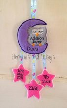 Owl and Moon Birth Hanger 4×4 design file