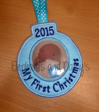 First Christmas Bauble Design file