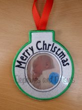Merry Christmas Bauble Design file