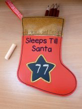 Sleeps Till Santa Vinyl Stocking Design files