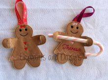 Gingerbread Girl Candy Cane Holder Design file