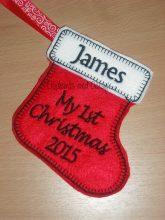 Mini Stocking 1st Christmas Design file