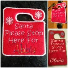 Santa Stop Here Hanger Design file