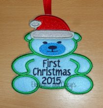 First Christmas Bear Design file