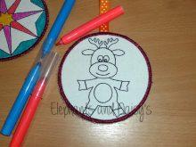 Colour Bauble Reindeer Design file