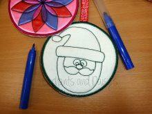 Colour Bauble Santa Design file