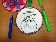 Colour Bauble Snowman Design file
