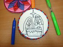 Colour Bauble Nativity Design file