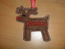 Reindeer Satin Design file
