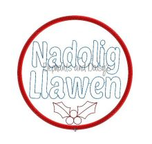 Colour Nadolig Llawen Bauble Design file