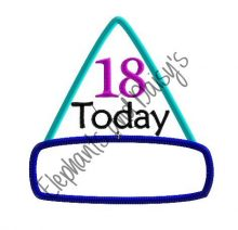 Birthday Hat Adult Badges Design file