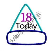 Birthday Hat Adult Badges Design file