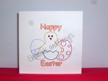 Easter Redwork Card Design file