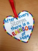 Rainbow of Hope Heart Design file