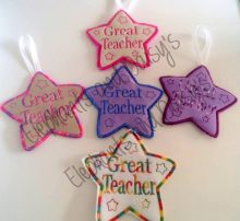 Great Teacher Star Design file