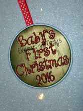 Baby's First Christmas 2016 Design file