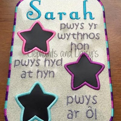 Welsh 3 Star Weight Loss Design file
